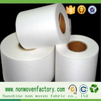 Non-woven fabric interlining for clothing raw material