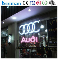 Leeman Group P12 outdoor glass led screen/transparent glass window wall display
