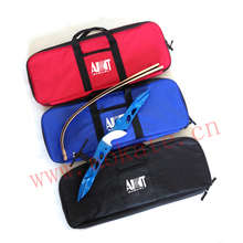 Archery Practice Bow Case Handle Easy Carrying Recurve Bow Bag Back with Arrow Cylinder Straps for Archery Target Shooting