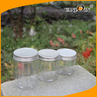 Round Clear PET 300g Plastic Jar for Food Packages