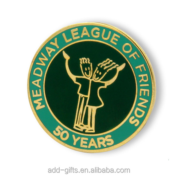 Alloy soft enamel souvenir lapel pin badge for events and associations with custom logo