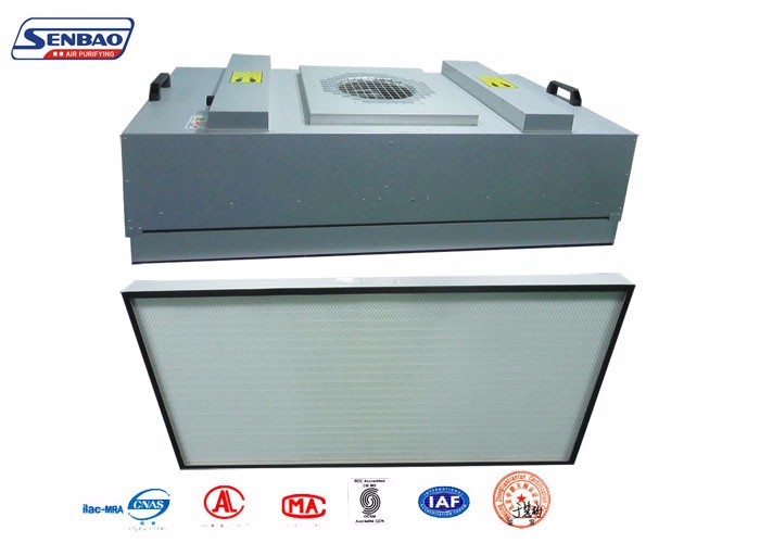 H12 HEPA FFU Ceiling Fan Filter Unit For Modular Cleanroom