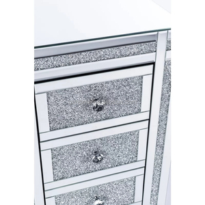 Crushed Diamond 3 Drawer Bedside Table