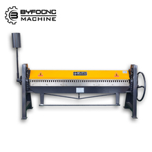 2mmx1300mm aluminum sheet hand folding machine , manual folder
