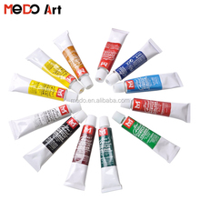 Hot sale high grade 12 colors 12ml acrylic paint