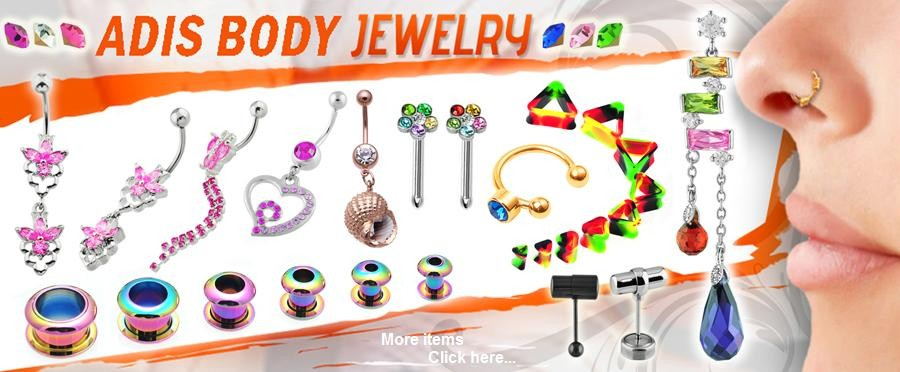 Shining body jewelry wholesale clear color custom acrylic fake spiral