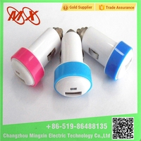 5V 2.1A mini usb car charger For Cell Phones / Tablet Metal Head Mushroom USB Car Adapter