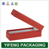 China factory manufacturer red paper wine bottle carrier for 1 bottle