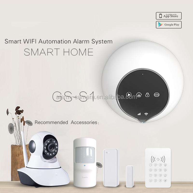 2016 newest wireless security home wifi alarm system support doorbell function work with smart sockets smart home alarm