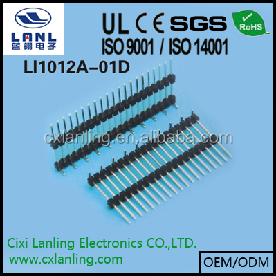 single row pin header smt 2.54mm pitch board spaces
