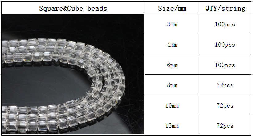 Wholesale Heart Square Beads,Cube Beads,Glass Beads