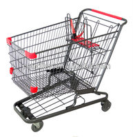190L USA Style Supermarket Grocery Cart, Supermarket Cart