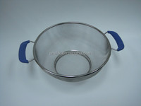 Cookware Colander, with wire support, sheet base &double handle