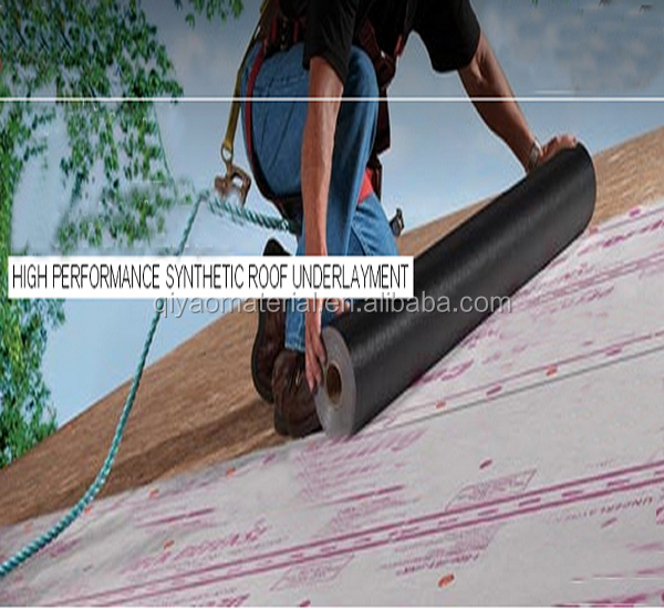 Anti-slip Roofing waterproof synthetic underlayment material