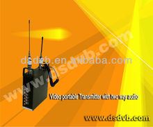 portable wireless audio transmitter and receivers