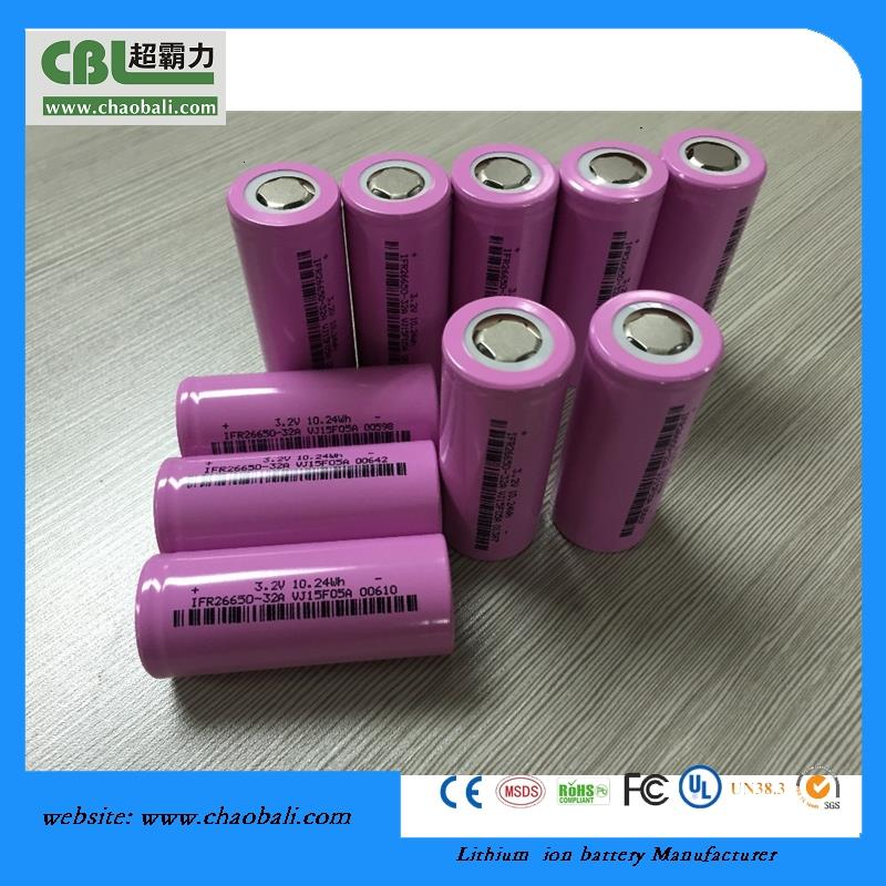 IFR26650 High Power 3.2V 3000mah Lifepo4 cells e bike battery 18v 10ah