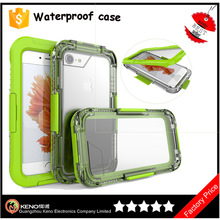 Wholesale funky water proof cover for iPhone6 6s hard mobile phone case with PVC screen protector