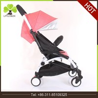 2017 Luxury Leather Light and comfortable baby carriage pushchair Baby Stroller With Sleeping Bag
