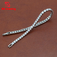 Wholesale Fashion Clear Diamond Man-Made Bracelet For Wedding and Bridal Design