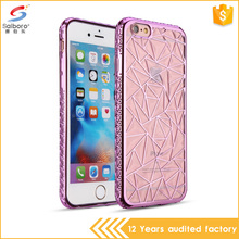 Wholesale top selling luxury rhombus diamond tpu phone case for iPhone5