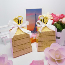Baby Shower Gift Favor Boxes Honey Bee Yellow Candy Box