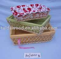 Willow tray willow small basket willow fruit plate plate of food basket