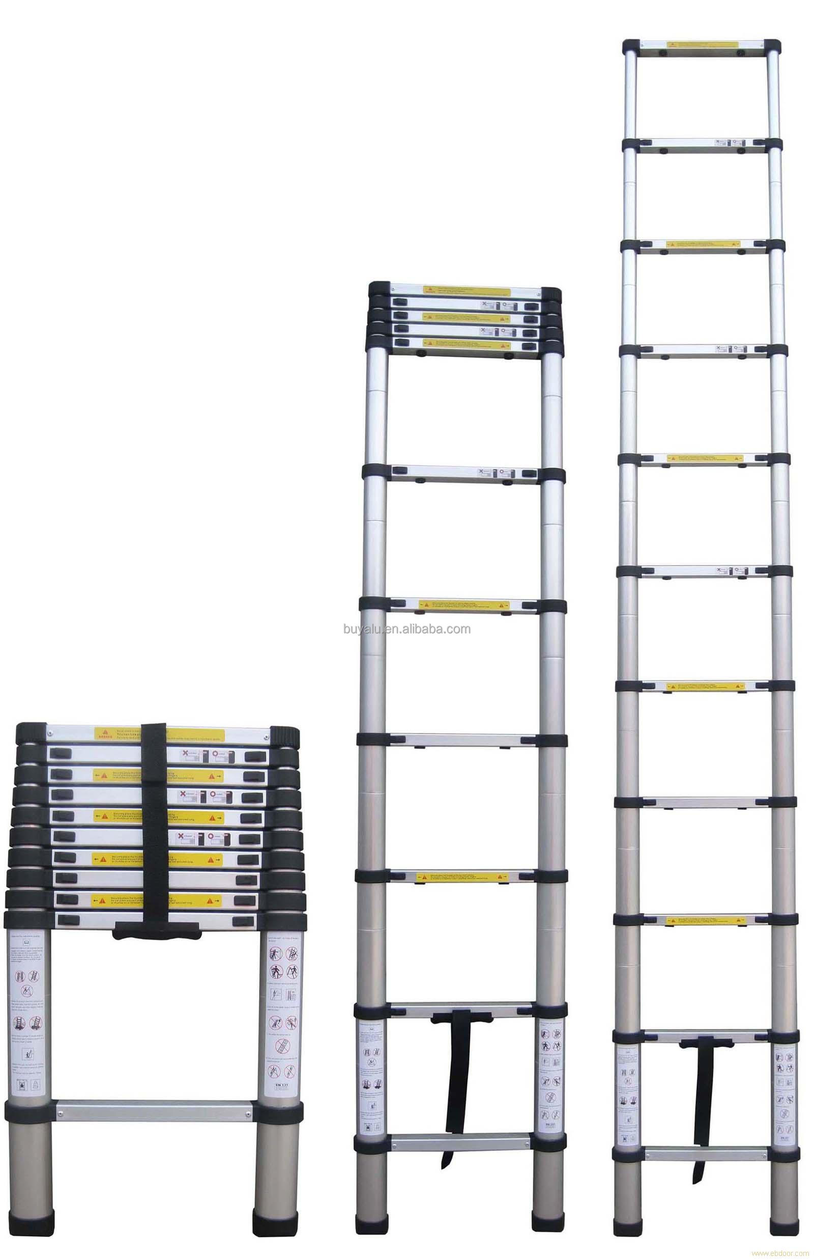 Aluminum Telescopic Single Sizes Extension Ladder