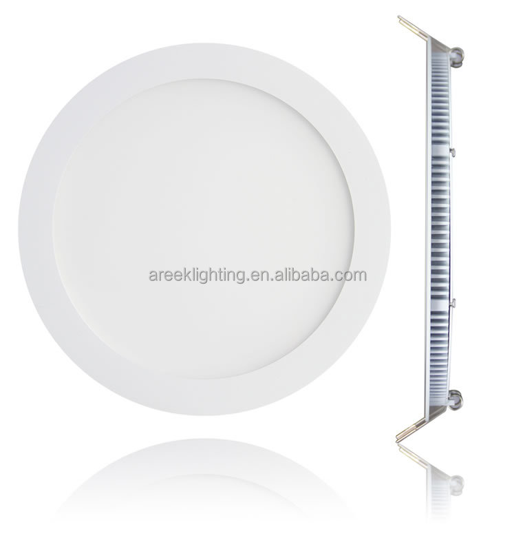 ultra slim round recessed lighting 3 years warranty 15w led panel light