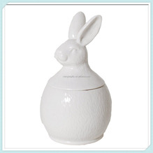 Cheap White Rabbit Porcelain Food Container