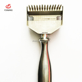 stainless steel 2 in 1 dog grooming hair remove brush for wholesale