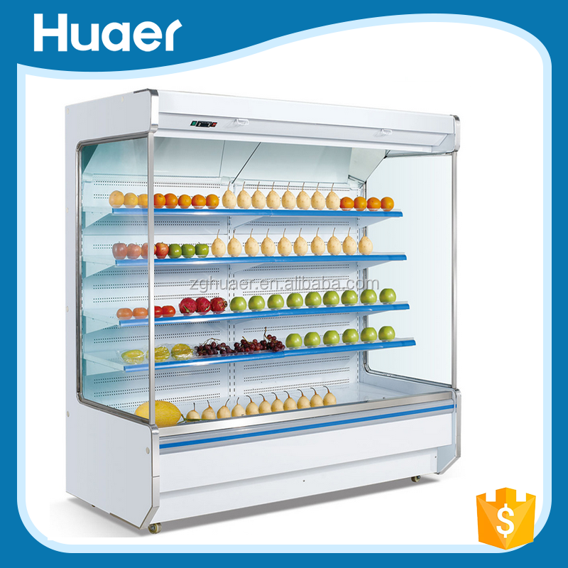 Hot sale low temperature chiller supermarket open front refrigerator with air curtain