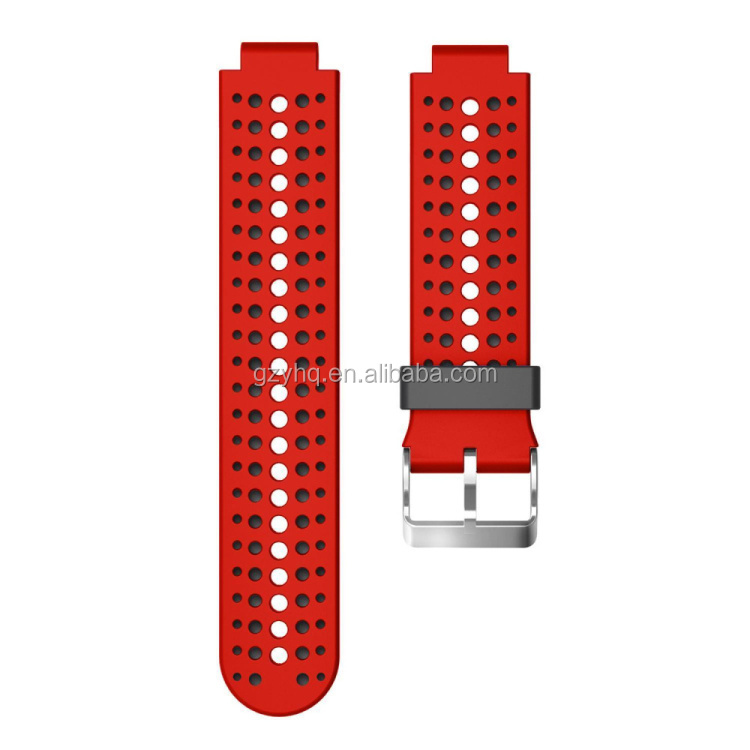 Replacement Smart Wrist Watch Accessory Silicone Band Strap for Garmin Forerunner 220/ 230/ 235/ 620/ 630
