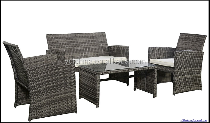 Modern comfortable outdoor furniture rattan wicker patio sofa sets YKD-03