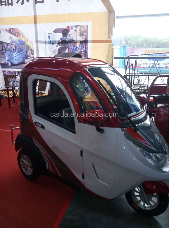 mini super electric tricycle full colsed car for passenger