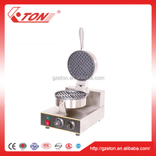 Snake Restaurant Equipment Round Shape Electric Egg Waffle Maker