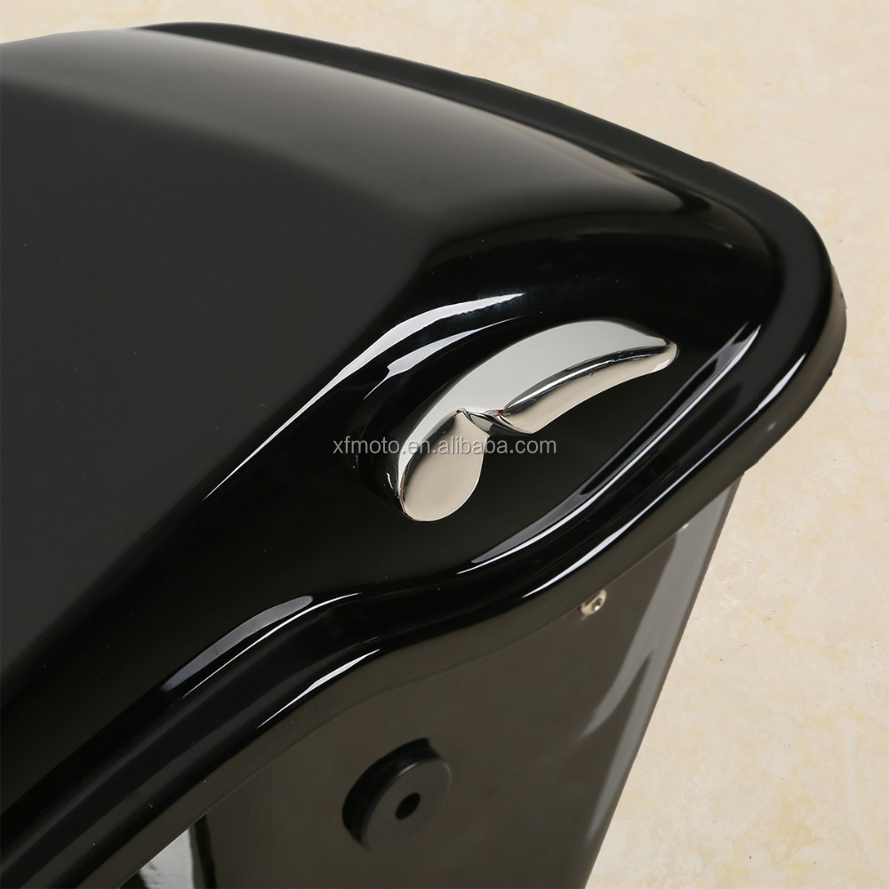 "5"" Extended Stretched Saddlebags With Keys For FLHTCU Road King 2014-2016"