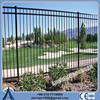 Security spear top tubular steel fence panel,galvanized steel fence panels,galvanized security fence panels