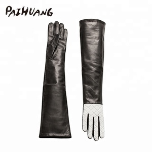 IS8257K1-V Paihuang Lady Fashion multicolor sheepskin leather long glove