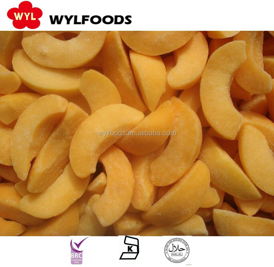 High Quality Best Price Iqf Frozen Yellow Peach Sliced
