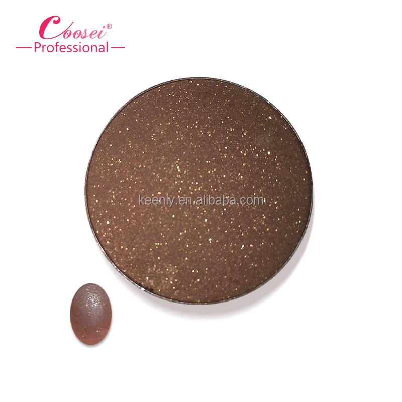 OEM kids matte chinese red eye shadow professional cosmetics mineral refillable eye shadow with sticker