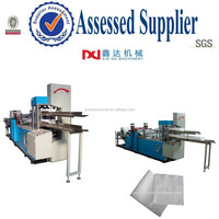 Automatic tissue napkin table printing folding serviette paper machine plant