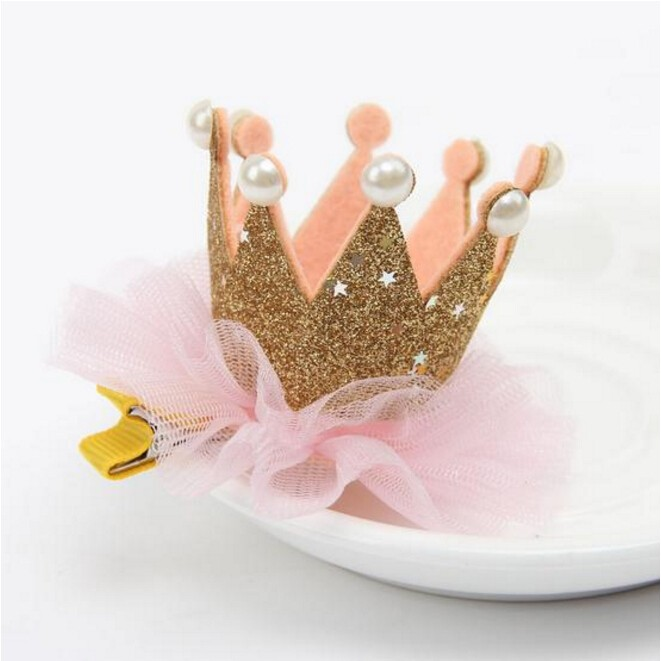 New arrival bling bling baby part head band lace and pearl elastic baby hair accessories