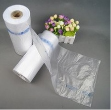 Flat produce bags on roll with paper core for fruits food and vegetables good quality