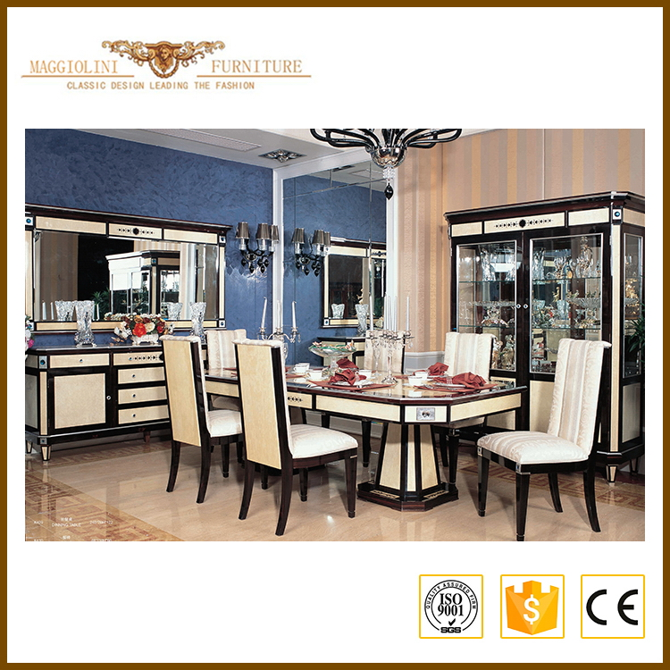 China gold supplier Supreme Quality classical luxury dining room furniture