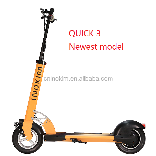 Comfortable stand up portable folding 10 inch samsung electric scooter