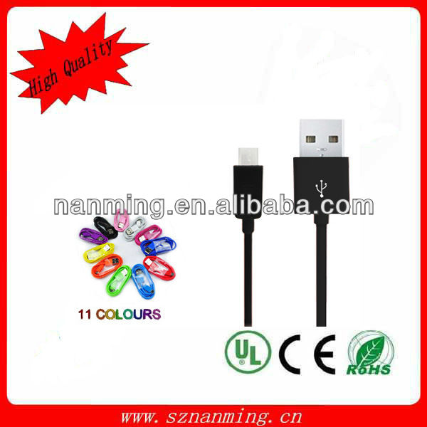 2.0 A type to micro usb adapter cable y style Micro USB Sync cell phone cable