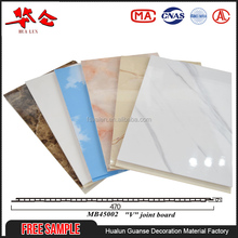 Free sample 450mm laminated wpc wall cladding, custom interior decorative pvc wall panels