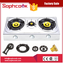 Wholesale Cheap Price Stainless steel china 3 burner gas stove and parts