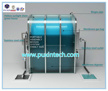 China Puxin Cheap Household Portable Assembled Membrane Biogas Plant for Waste Treatment