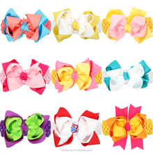 Cute Baby Girls Ribbon Bow Elastic Crochet Headband Infant Toddler Knitted Stretch Headbands